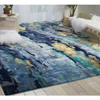 Nourison Prismatic Silver/Blue Area Rug
