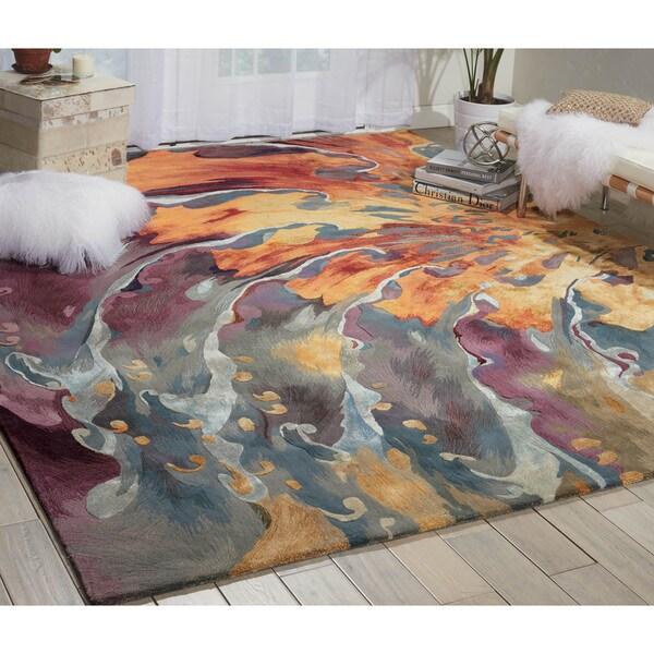 Shop Nourison Prismatic Multicolor Area Rug 8 6 X 11 6