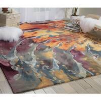 Nourison Prismatic Multicolor Area Rug (8'6 x 11'6) - 8'6 x 11'6
