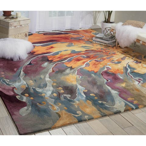 Nourison Prismatic Modern Contemporary Abstract Bohemian Area Rug