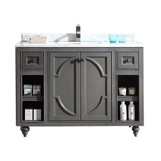 Odyssey Collection 48-inch Vanity with Marble Countertop