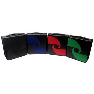 Boostwaves Black Premium PU Vinyl Leather 520 CD/DVD Media Wallet Folder Carrying Case, Assorted Colors