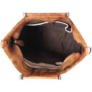 Diophy Multicolored Genuine Leather Archaize Medium Top-handle Handbag