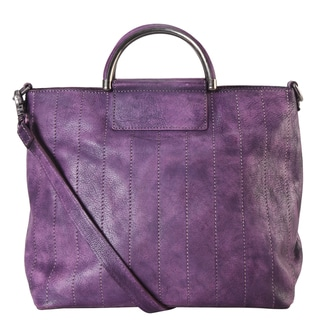 Diophy Multicolored Genuine Leather Archaize Medium Top-handle Handbag