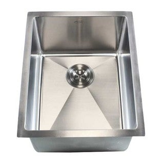 16-gauge Stainless Steel Single-bowl (15-millimeter Radius) 16-inch Undermount Kitchen/Island/Bar Sink