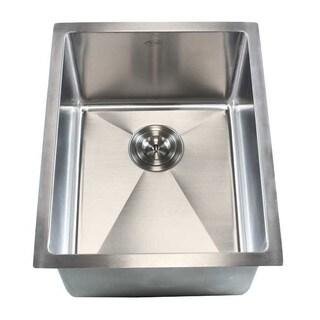 16-gauge Stainless Steel Single-bowl (15-millimeter Radius) 16-inch Undermount Kitchen/Island/Bar Sink