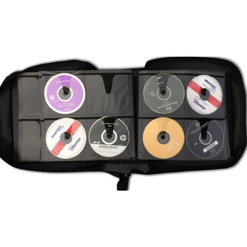 ILogic 360-capacity Quality Compact Disc CD DVD Blu-Ray Black Nylon Media Wallet Folder