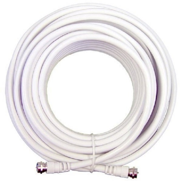 Cable N Wireless White 100-foot Low Loss RG6 Coaxial Digital Audio Video Patch Cable with F Pin to F Pin Coax Extension UL