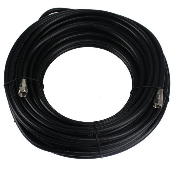 RG-6 Copper-clad/Dual-shielded Black 100-foot Coaxial Cable