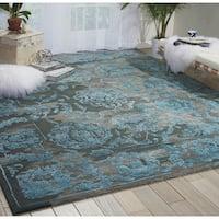 Nourison Opaline Charcoal/Blue Area Rug - 7'9 x 9'9
