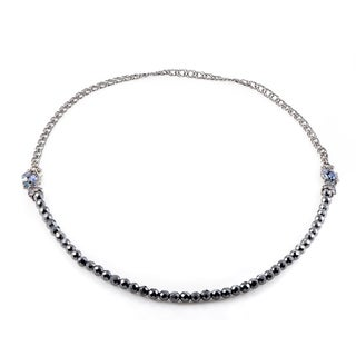 Stephen Webster Sterling Silver Blue Gemstone Pop Superstud Necklace
