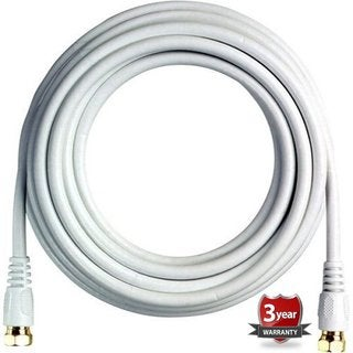 BoostWaves White 12' Rg6 High-definition HDTV Satellite Low-loss Coaxial Cable