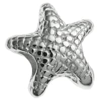 Queenberry Sterling Silver Starfish Star European Bead Charm