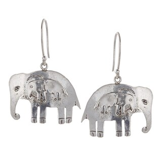 Mother and Baby Elephant Earring (Nepal)
