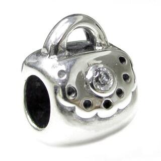 Queenberry Sterling Silver Handbag Bag Purse European Bead Charm