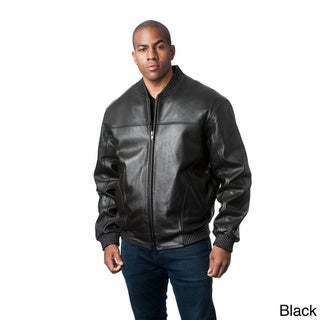 Mason & Cooper Men's Red Leather Bomber Jacket