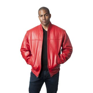 Mason & Cooper Men's Red Leather Bomber Jacket|https://ak1.ostkcdn.com/images/products/12352425/P19180477.jpg?impolicy=medium