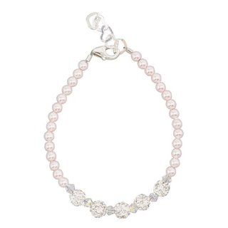 Pink Pearls with Crystals and Pave Beads Baby Bracelet