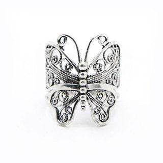 Sterling Silver Handmade Artisan Butterfly Ring