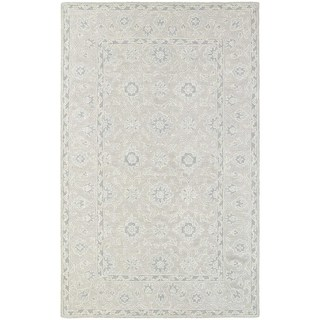 Tone-on-Tone Traditional Loop Pile Beige/ Grey Rug (3' 6 x 5' 6)
