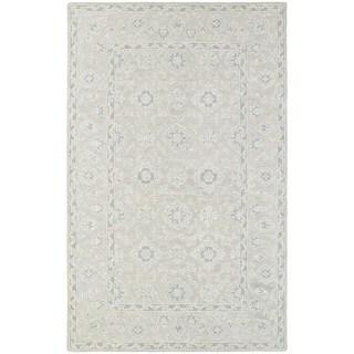 Tone-on-Tone Traditional Loop Pile Beige/ Grey Rug (3' 6 x 5' 6)