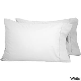Microfiber Wrinkle Resistant Solid Standard Pillowcases (Set of 2)