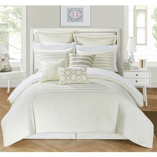Chic Home Karlston BIB Beige Comforter 13-Piece Set