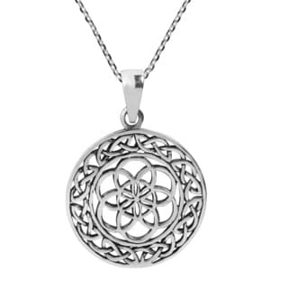 Seed of Life The Seven Days Celtic Sterling Silver Necklace (Thailand)