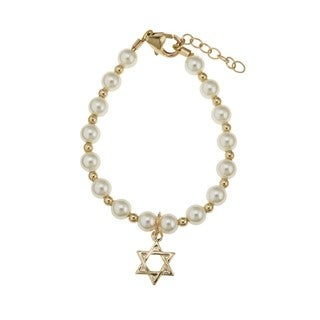 Gold Baby Bracelet with David Star