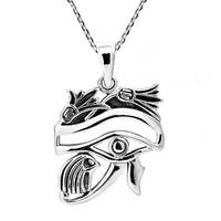 Handmade Egyptian Eye of Horus Protection Sterling Silver Necklace (Thailand)