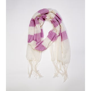 Molly Cotton Scarf- Berry (India)