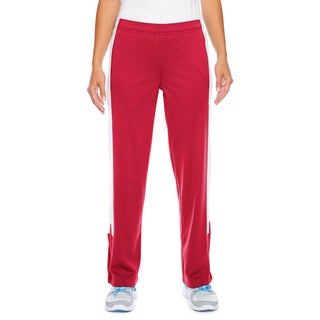 Elite Women's Red and White Performance Fleece Sport Pants