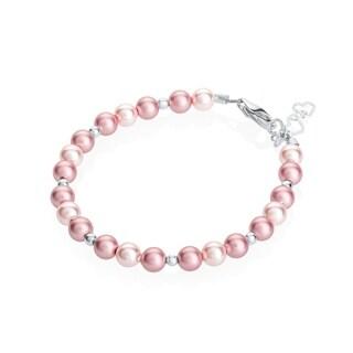 Adorable Pink/ Rose Crystal Toddler Girl Bracelet