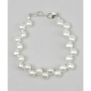 Crystal Dream Luxury White Fresh Pearls Infant Bracelet