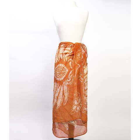 Handmade Cabana Sarong - Orange Blossom (India)