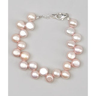 Pink Freshwater Pearls Beaded Baby Bracelet