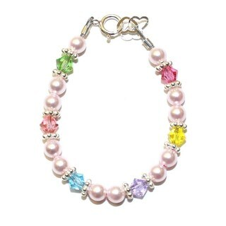 Crystal Dream Luxury Pink Crystals and Beads Stylish Baby Girl Bracelet