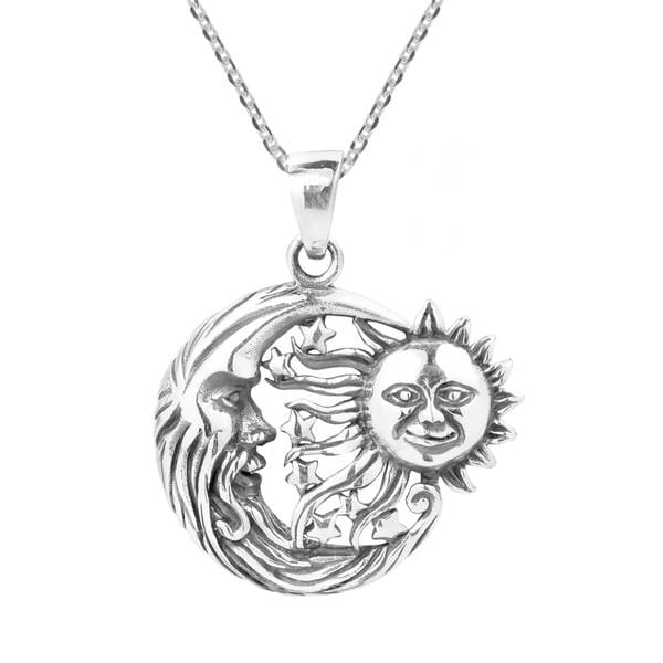 Shop Handmade Celestial Embrace Sun Moon And Star 925 Silver