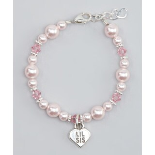 Crystal Dream Luxury Pink Crystals Little Sister Sterling Silver Child Bracelet