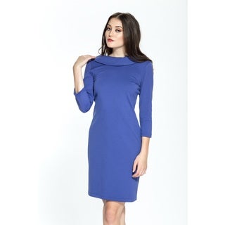 Amelia Ponte Sheath 3/4-sleeve Dress