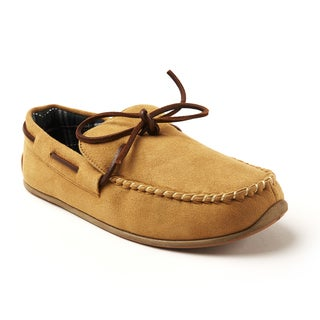 Slipperooz By Deer Stags Tan Microsuede Indoor-Outdoor Slipper
