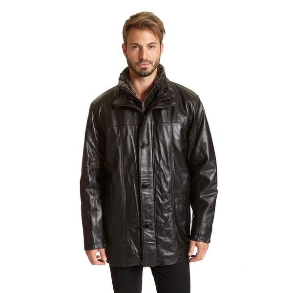 Excelled Men's Big and Tall Leather Big and Tall Car Coat - Free ...