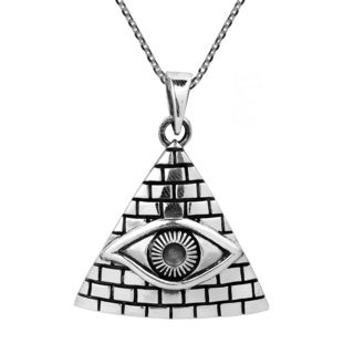 All Seeing Eye of Providence .925 Sterling Silver Necklace (Thailand)