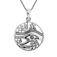 Handmade Eye of Horus Magical Egyptian Amulet .925 Silver Necklace (Thailand)