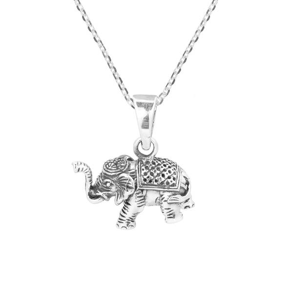 Devoted 925 Sterling Silver Designers Elephant Pendant Necklace W/ 1 Ct Diamonds Necklaces & Pendants Jewelry & Watches