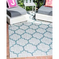 Unique Loom Outdoor Trellis Area Rug - 5' X 8'