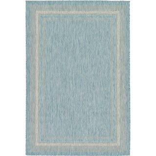 Unique Loom Soft Border Outdoor Area Rug - 6' x 9'