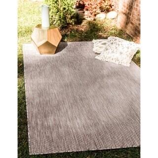 Turkish Indoor/Outdoor Solid Grey Polypropylene Rug (6' x 8' 11)