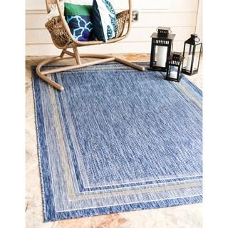 Turkish Indoor/Outdoor Blue Polypropylene Rug (6' x 8' 11)