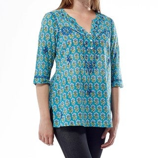 La Cera Women's 3/4 Sleeve Embroidered Top (4 options available)